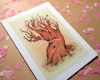 Tree - HAND EMBELLISHED Fine Art Print
