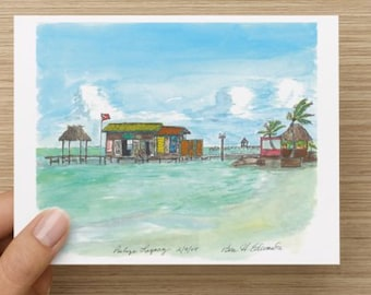 Breeze in Belize - Note cards