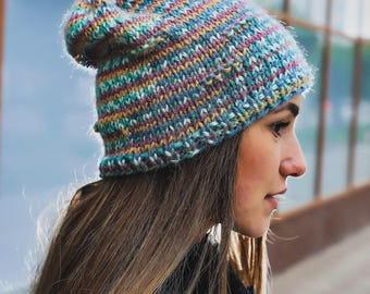 Womens hat Beanie hat Knit hat Knit hats women Chunky knit hat Wool knit hat Chunky beanie Beanie womens Slouchy beanie Gift for her