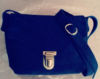 small blue shoulder bag