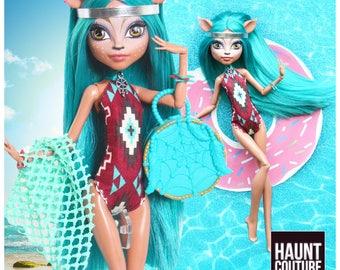 "Monster Doll Haunt Couture: ""Rain Dance"" dress high fashion dress clothes"