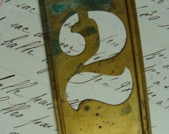 ONSALE Antique Steampunk Metal Number 2  More Letters and Numbers Available