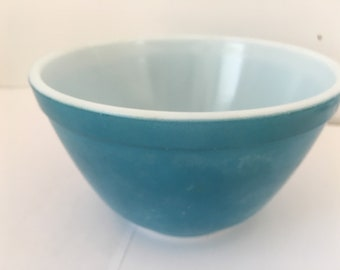 Vintage Blue Primary Colors Mixing Bowl     No. 401 from the 1960s