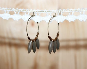 Hoop sequins taupe gray