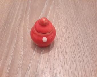 Sugar Bowl miniature pea ceramic collectible