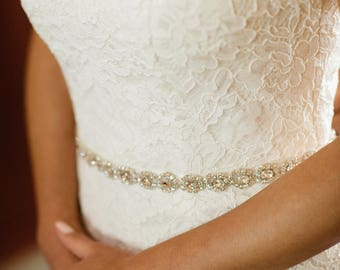 Guillotine, ceinture de mariage, ceinture de mariée, mariée cristal Sash, ceinture de strass, pierreries ceinture robe de mariée ceinture fine ceinture mariée Swarovski ceinture