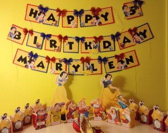 Snow White Birthday Banner