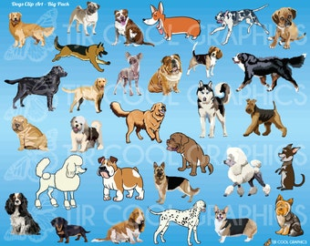 Dogs - Big Pack Clip Art