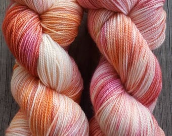 Sweet Sorbet - Just A Girl and Her Dog Hand Dyed Yarns