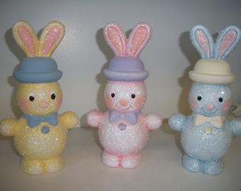 ceramic glitter bunny