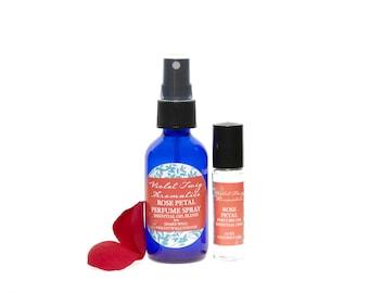 Rose Petal Perfume - Rose Fragrance - Rose Perfume - Essential Oil - Rose Perfume Oil - Classic Rose Perfume - Natural Floral Perfume