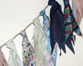 Multicolored Cloth Rag Garland