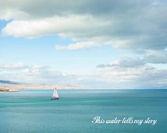 This water tells my story -Bear Lake Utah postcard