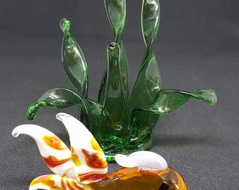 Glass fish with glass grass