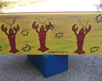 Gris Gris Art MaRDI GRaS LaDDER SEAT- New Orleans Parade Ladder- Box Seat- ARTWORK Custom Painted- Decorated Ladder- Stand out in a crowd
