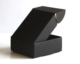 Set of 50, Black Gift Box, Favor, Gift, Party