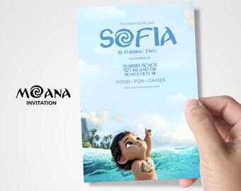 Moana Invitaion, Moana Birthday, Moana Birthday Invitation, Moana Party, Moana Card, Moana Flyer, Girls Birthday Invitation, Baby Moana