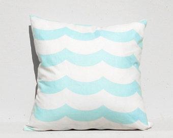 Sky Blue Wave Pillow cover