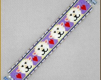 Polar Bear Express Peyote Bracelet Pattern