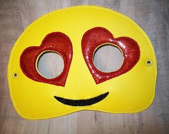 Child's Mask - Emoji - Heart Eyes