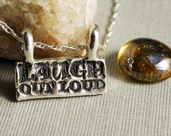 Laugh Out Loud Necklace In Sterling Silver