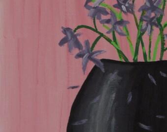 Noir (Still Life) - Original Acrylic Painting