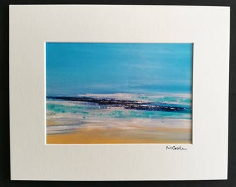 Spirit of the Surf - Abstract Emotional, Art, Photographic Print, mounted, love, red, blue, cornwall, seascape