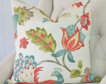 SALE Coral Pink Pillow Cover High End Throw Pillow  0311713 Coral Reef 18x18 20x20 22x22 24x24 26x26
