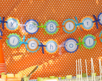 Dinosaur Birthday Banner, Boys 1st Birthday Banner, Dinosaur Theme Happy Birthday Banner, Dinosaur Birthday Party Decorations