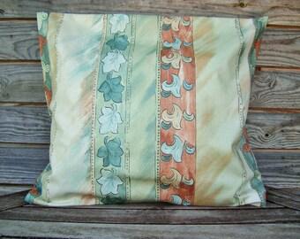 Green Pillow Cover, Throw pillow 16*16 Inch, Decorative Pillow, Handmade Customizable Cushion, Cottage Decor