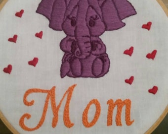 Elephant love for mom