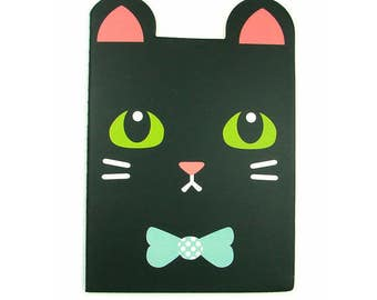 Kawaii black cat notebook