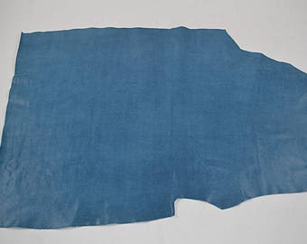 Lizard Printed Royal Blue Cowhide Leather Coupon