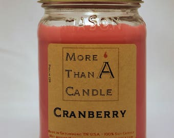 16 oz Cranberry Soy Candle