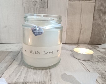 Best Friend (with love) Scented Soy Candle Gift