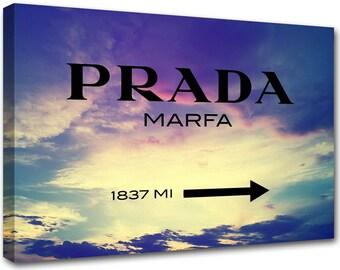 Prada Marfa canvas, sunrise horizon, modern painting, canvas print, modern art, interior decoration, prada sign, pro38