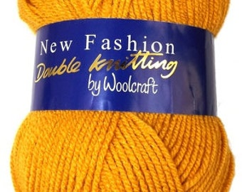 Mustard knitting yarn dk double knit New Fashion from Woolcraft affordable yarns 100 g per ball colour code 140