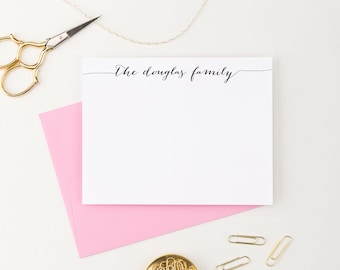 Personalized Family Stationery, Custom Family Stationary, Family Thank you cards, Housewarming gift, New home Gift, Wedding gift idea, FS001
