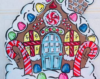 Bright gingerbread house