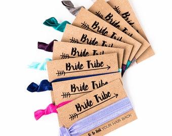 SALE | ASSORTED COLOR Bachelorette Hair Tie Favors, Bride Tribe Hair Tie Favors, Boho Bachelorette Party Hair Tie Favors, Bridesmaid Gifts