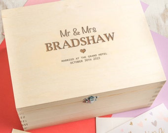 Wedding Memory Box Personalized