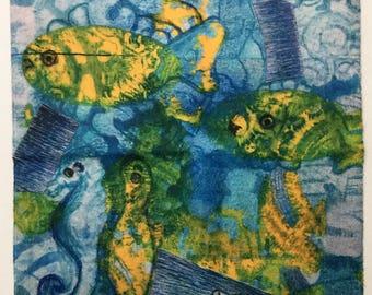 Aquarium Fingertip Towel