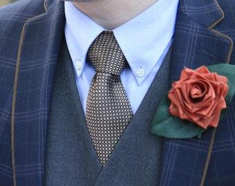 Ribbon Rose Boutonniere/Corsage