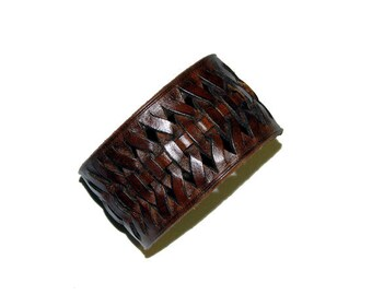 The Brown Lena Handmade Leather Cuff