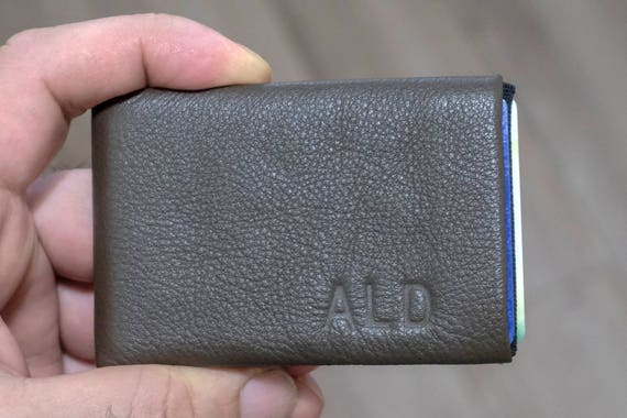 Best men gift, Personalized Leather Wallet, Slim Wallet, Leather Wallet, Minimalist Credit Card Wallet, Mens Leather Wallets