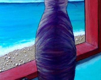 No Mor' Fish in Da Sea-Original acrylic painting
