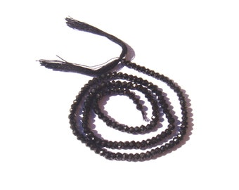 Black spinel / Black Spinel: 20 MICRO faceted irregular 3 mm in diameter