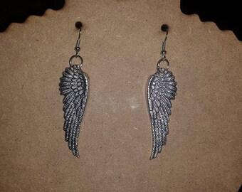 Silver Angel Wings Earrings