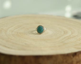 Sterling Silver Ring Turquoise Gem