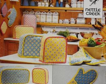 Vintage 1987 UNCUT 10 Piece Kitchen Sewing Patterns, BUTTERICK 'Crafts' 441.
